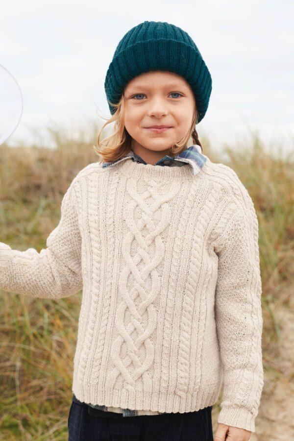 Opskrift på børnestrik med mønster