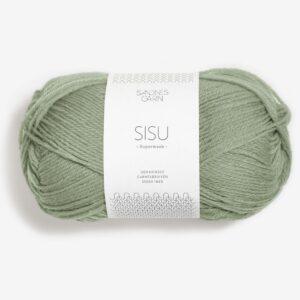 Garn Sandnes Sisu 9041 Støvet Lys Grøn