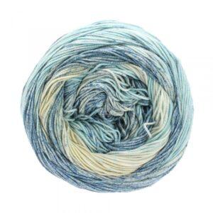 Garn Lana Grossa Aruba 9 Isblå-Gråblå-Ecru