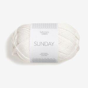 Garn Sandnes Sunday 1001 Hvid