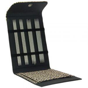 Strømpepindesæt i rustfrit stål - sort etui åben