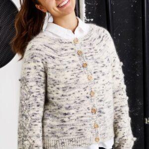 Strikkeopskrift på trøje med hulmønster