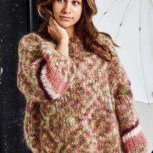 Strikkeopskrift på sweater på tykke pinde