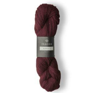 Garn Isager Alpaca 2 farve 36 Bordeaux