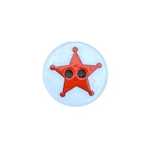 Knap med rød stjerne