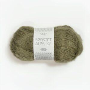Garn Sandnes Børstet Alpakka 9554 Mosegrøn