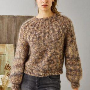 Strikkeopskrift på damesweater