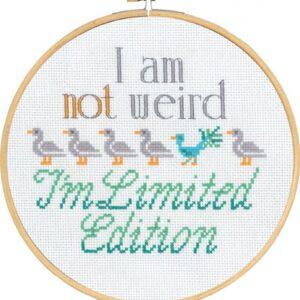 Broderi I am not Weird