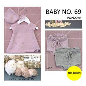 Hæfte med strikkeopskrifter til baby