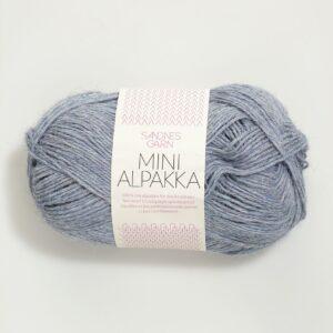Garn Sandnes Mini Alpakka 6221 Lys Blå Meleret