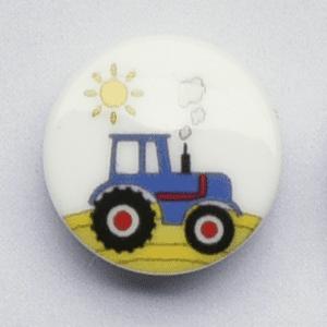 Knap med traktor