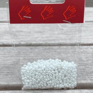 Glasperler / Rocailles 2,5 mm Hvid