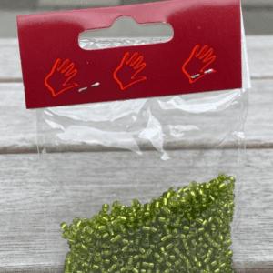Glasperler Olivengrøn