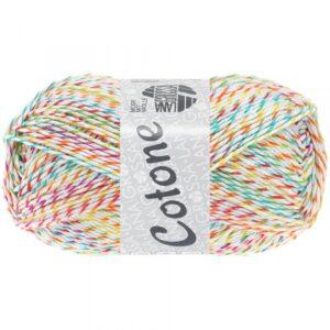 Garn Lana Grossa Cotone 512 Meleret cirkusfarver