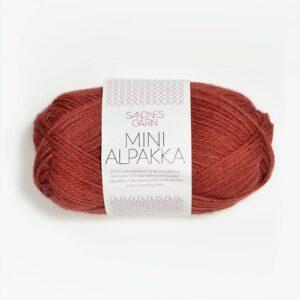 Garn Mini Alpakka 4035 Mørk Terracotta