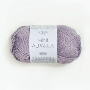 Garn Mini Alpakka 4631 Støvet Syren