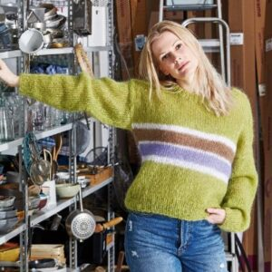 Strikkeopskrift på en basis sweater