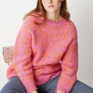 Strikkeopskrift på mønsterstrikket sweater
