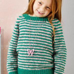 Strikkeopskrift på raglansweater til børn