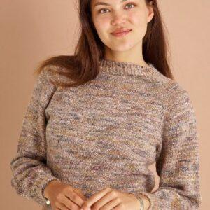 Strikkeopskrift på bluse med raglan