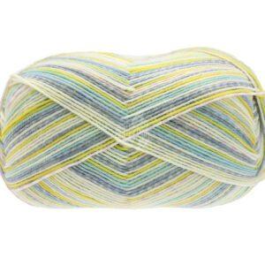 Garn Fondo 7880 Isblå/Mint/Lime/Ecru