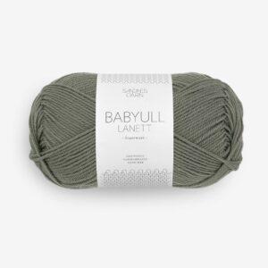 Garn Babyull Lanett 9071 Støvet Olivengrøn