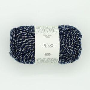 Garn Sandnes Tresko 5864 Marinegrå