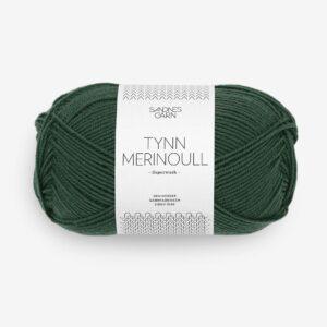 Garn Tynn Merinoull 8581 Dyb Skovgrøn