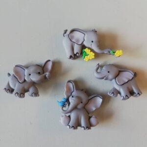 Knapper med elefanter