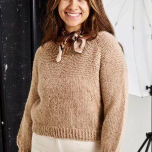 Strikkeopskrift på raglansweater
