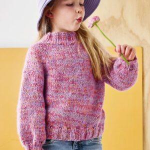 Strikkeopskrift på raglanbluse til børn