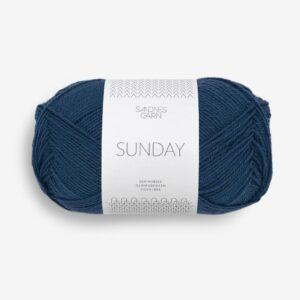 Garn Sunday 6062 Blå